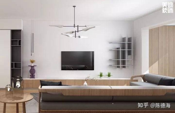 电视墙的设计只是空间的一部分,是设计的延续,并不是全部.