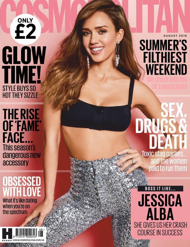 杰西卡·阿尔芭(JessicaAlba)登上《Cosmopolitan》杂志封面