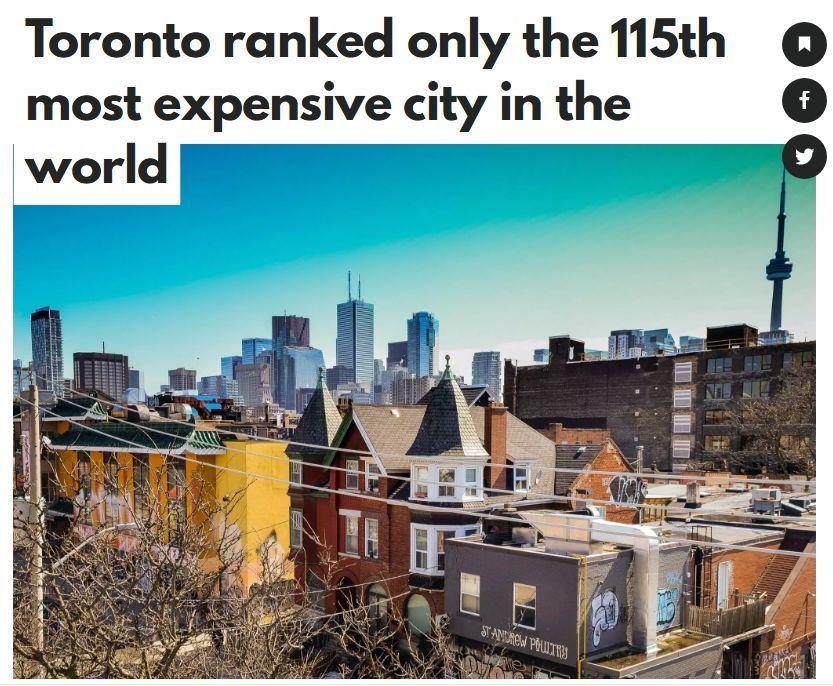 生活在多伦多,你计算过在生活成本要多少吗?
