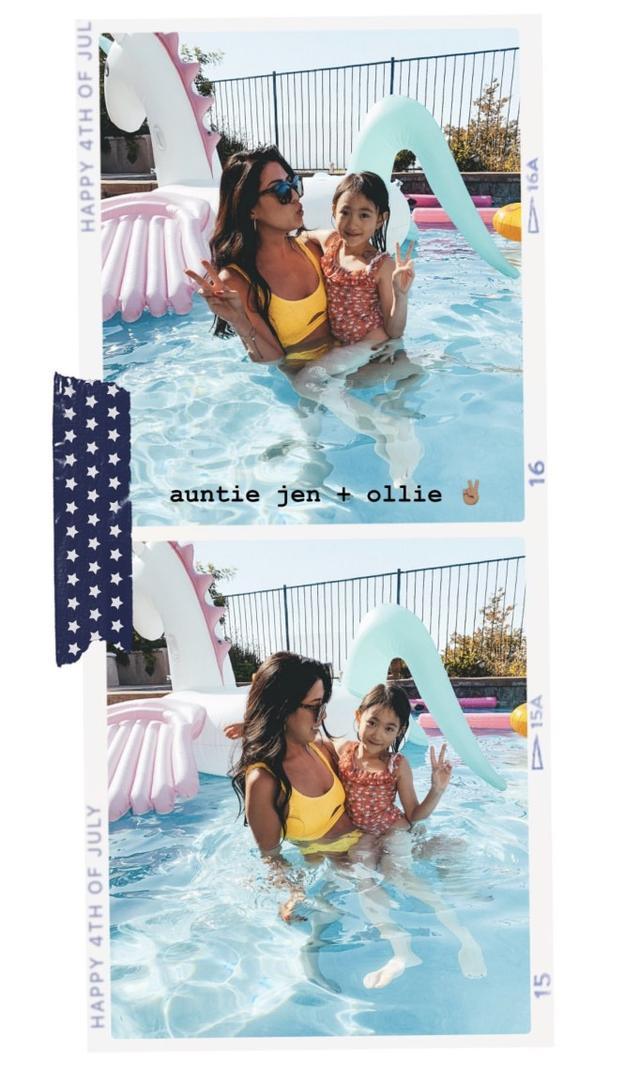 奥莉时隔3个月再现身,穿泳衣与弟弟泳池玩耍,依然活泼漂亮 imeee.net