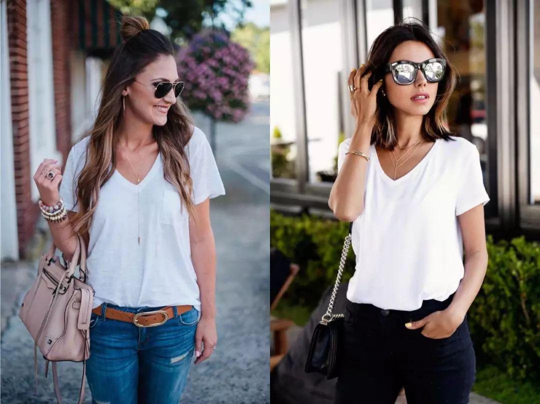 最简单的穿法也最美 几个初夏基础款穿搭look 衬衫