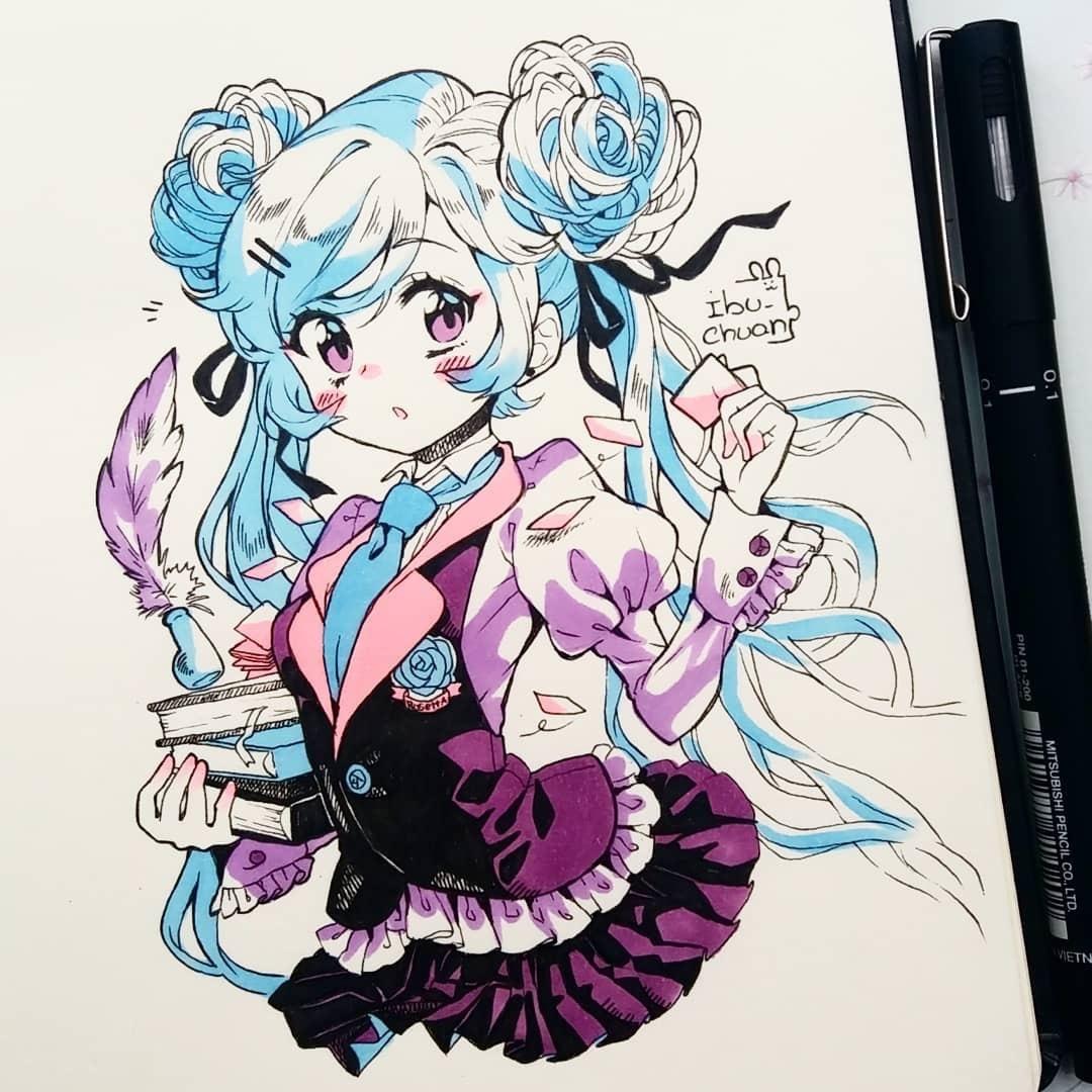 日本超级色的邪恶漫画_动漫 正文  来凸显人物可爱的气质 细节上,虎牙,长腿,猫眼 眯眼,瞳色