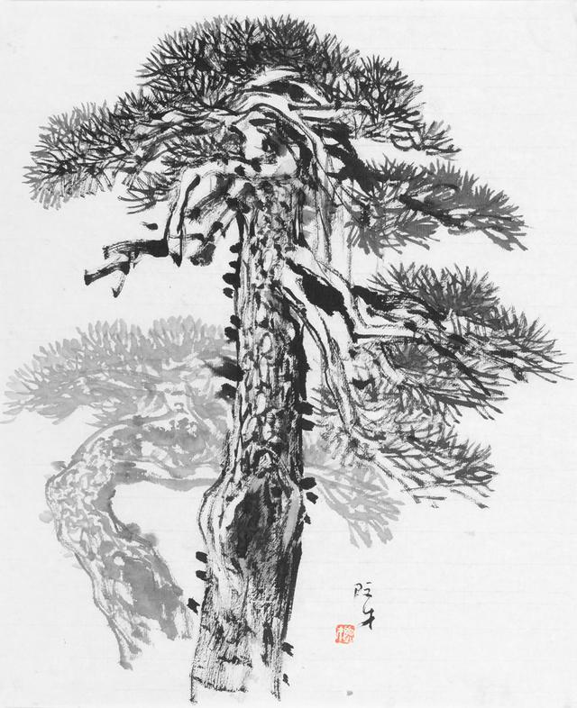 技法研究 山水画中如何画好松树
