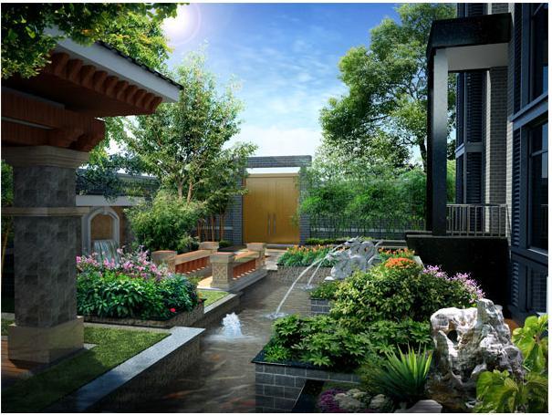 别墅庭院景观怎么设计的