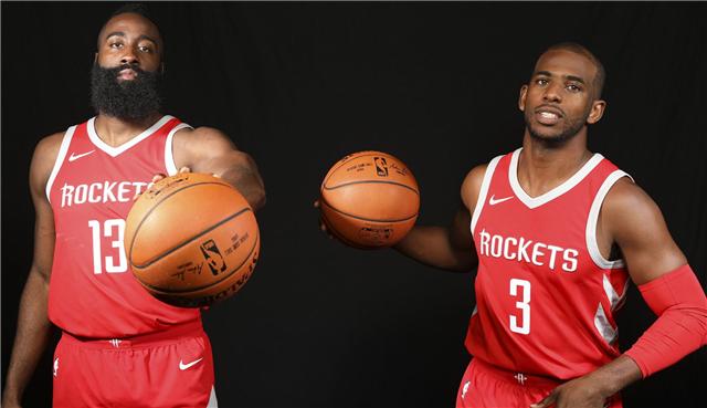 NBA新赛季12大双人组合哈登、保罗仅第9詹姆斯和戴维斯输2人