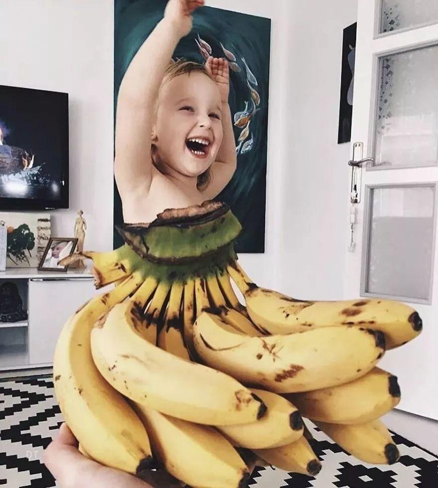 用蔬菜水果为女儿拍照片,这个妈妈的作品火了