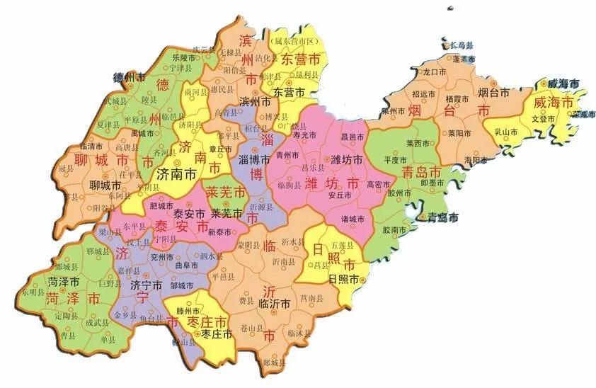 山东十七地市人口增减_山东十七地市地图图片