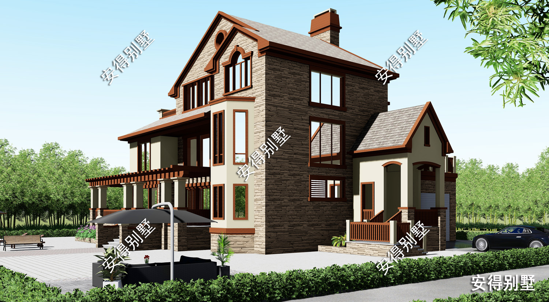 大坡顶美式3层别墅,适合居家的好房子