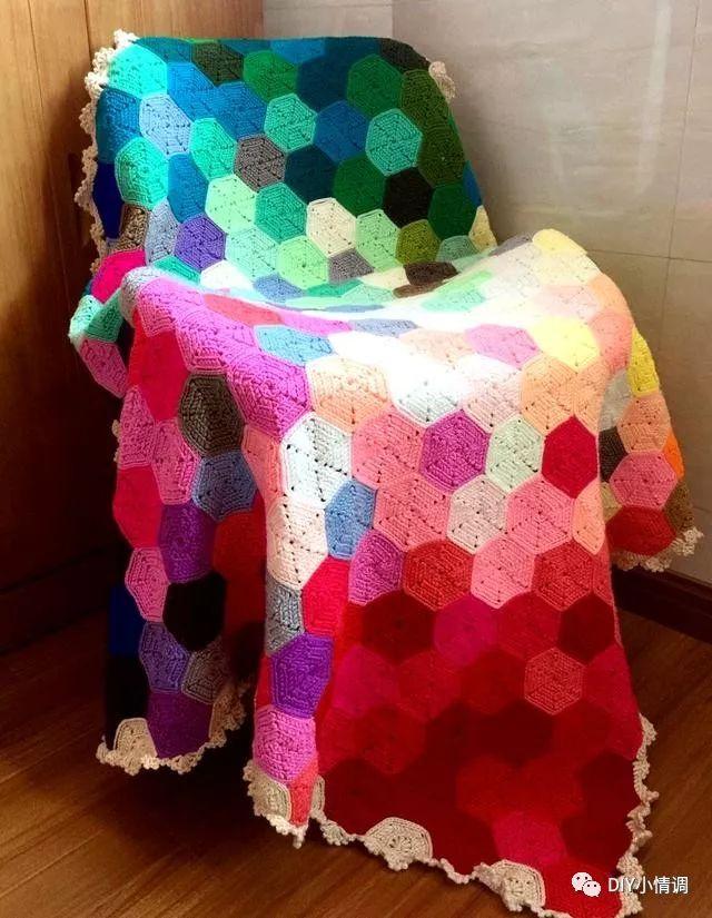 编织| 钩针图解大放送,你想要钩的彩虹毯,在这里都能找到