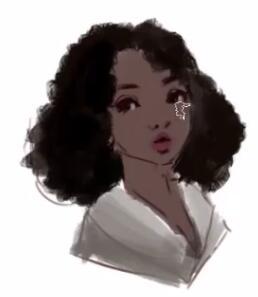 黑种人辣图_原画人厚涂插画教程,不同人种的女性头像设计_眼睛
