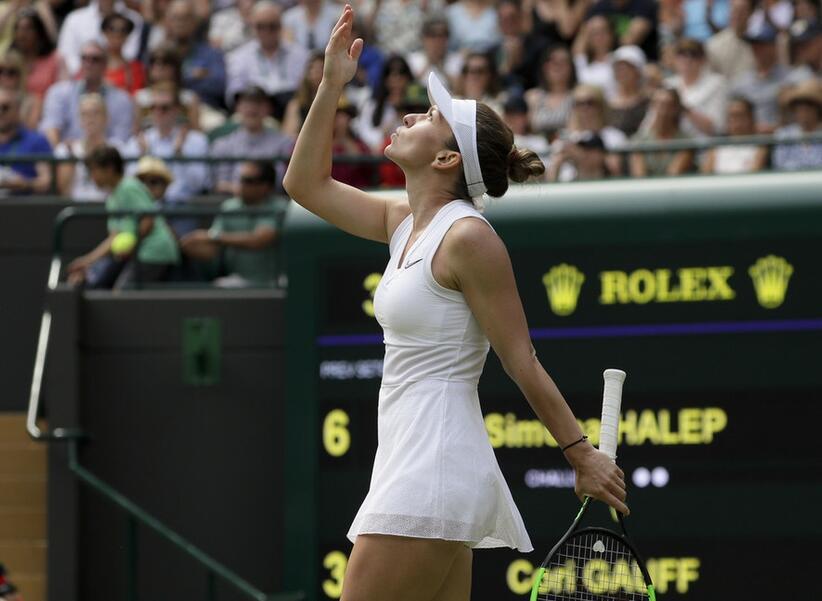 哈勒普2-0完胜斯维托丽娜 生涯首进温网女单决赛