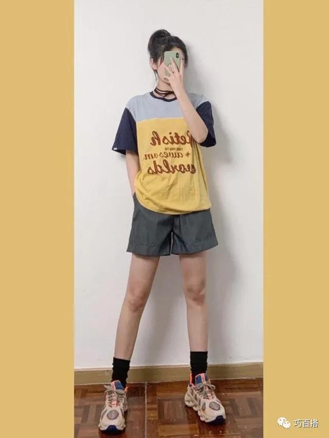 短裤造型太普通?8种不出错的CP搭配,穿出当下最流行的盐系风格