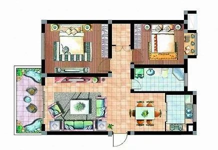 简单家平面图手绘