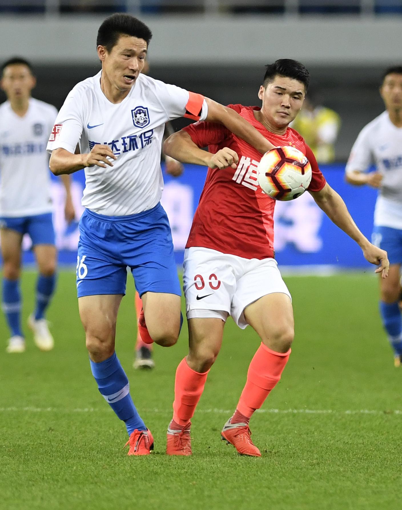 足球——中超:廣州恒大淘寶勝天津泰達圖片