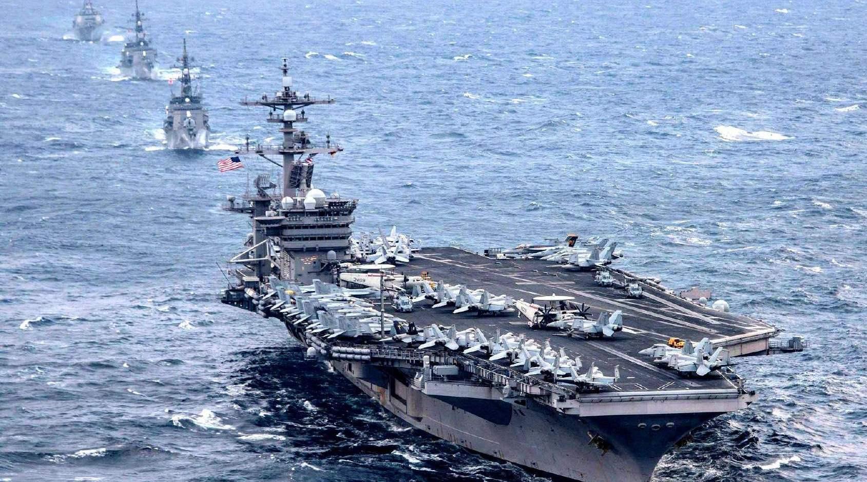 中东又来一艘航母!美海军战力翻一倍不止,伊朗背后大国回应