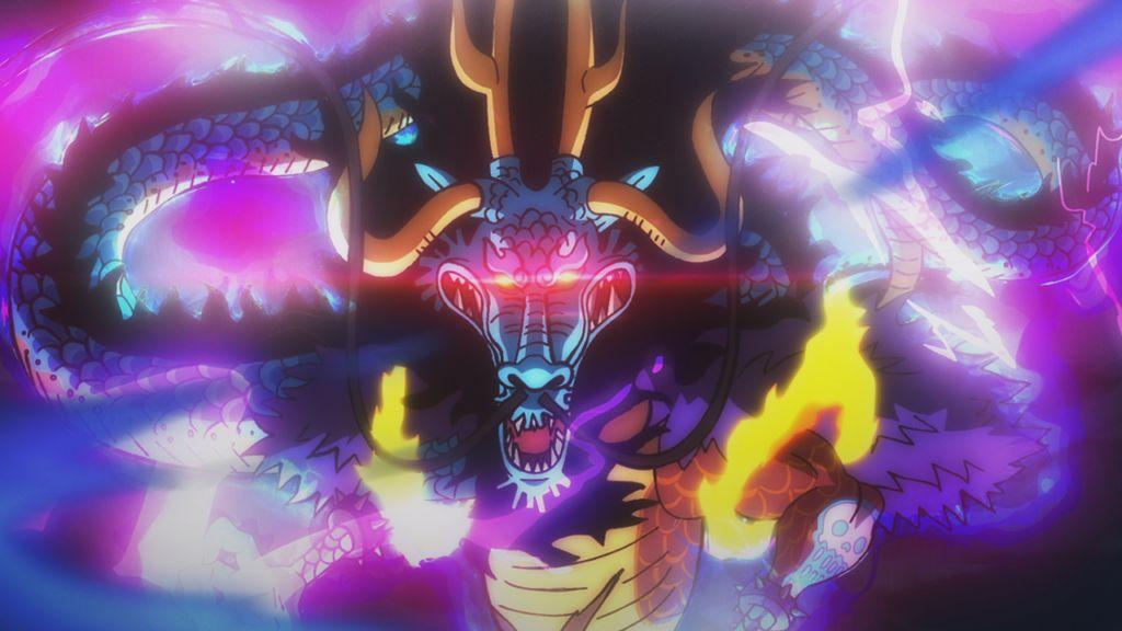 四皇之一百兽凯多_盘点海贼王中的五大变身龙类强者,第一名毫无争议!_海贼团