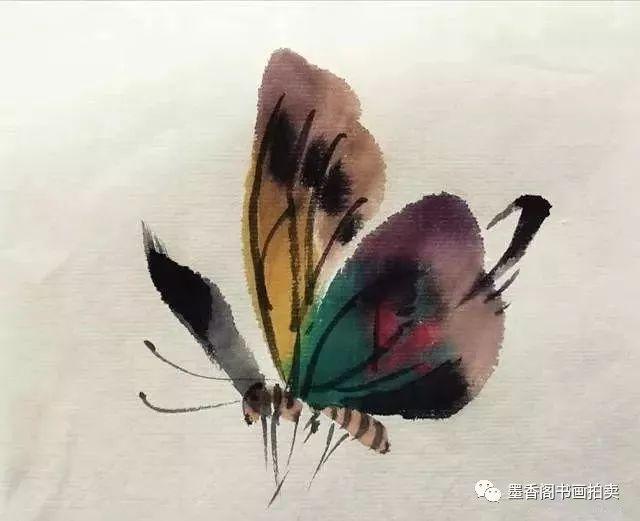 几种写意蝴蝶的画法,学会了拿去补景是一绝
