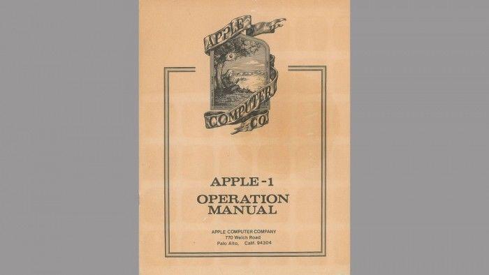 [图]Apple-1用户手册以12296美元的价格成拍