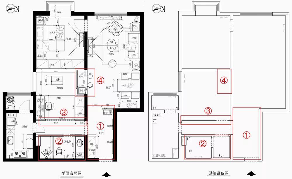 78平北欧风二居室,好喜欢这个客厅小吧台和榻榻米!