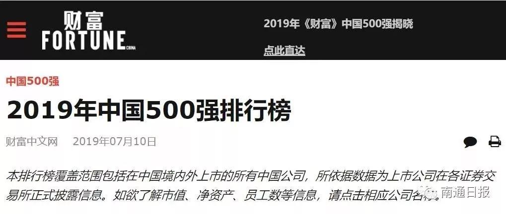 《财富》中国500强出炉,张家港上榜企业是它们!