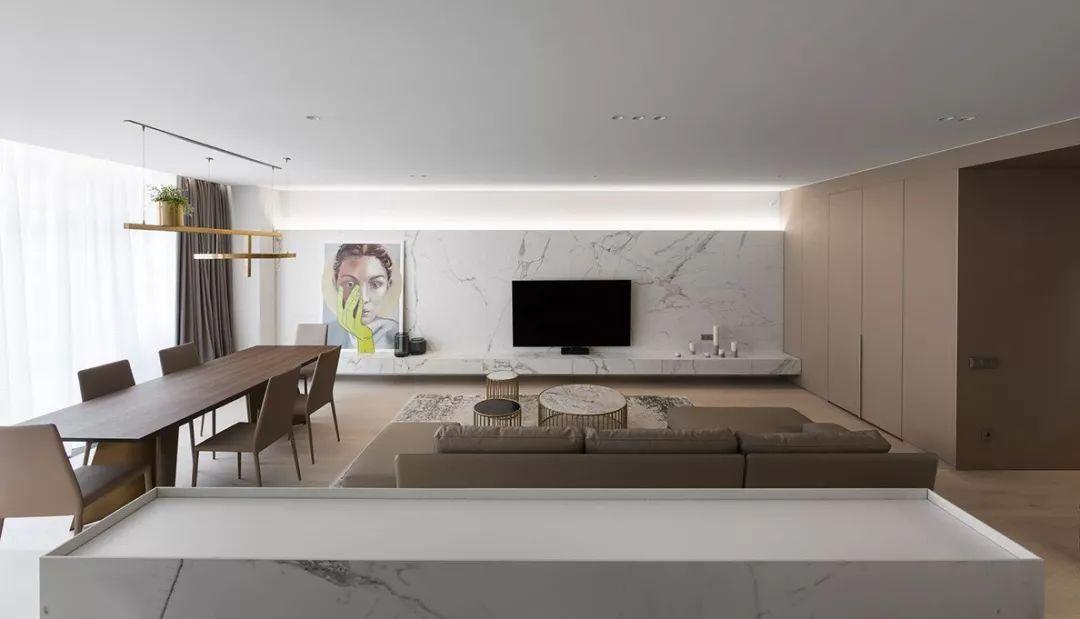 【川谷堂】175㎡ 简约大平层,灯光、墙面这样设计真高级
