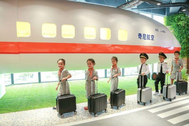 空姐的服务癹n��olzg>iz^i�_99元1大1小   广州奇尼怪村儿童职业体验一票通玩,n种
