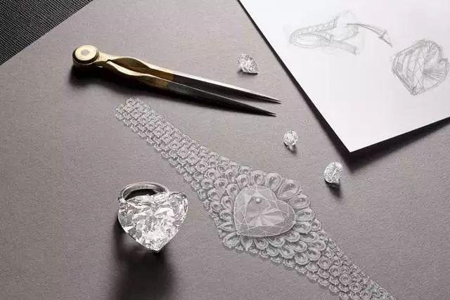 这些顶尖珠宝大师的手稿草图,流淌着珠光溢彩的光芒