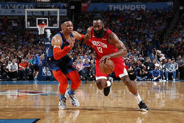 """威少联手哈登,NBA联盟又回到了最好的""""双核时代""""?_火箭"""