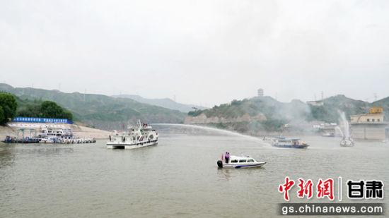 甘肃水上应急联合演练活动在刘家峡水库水域举行