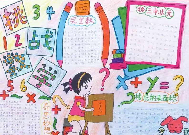 收藏这些趣味数学手抄报,假期教孩子画一画图片