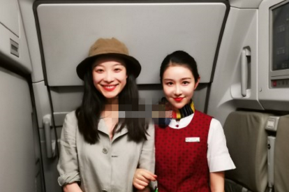倪妮偶遇同名空姐