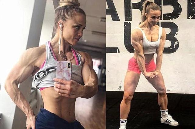 瑞典健美女孩體脂率練到4%,為愛增重40斤,終有女人味!