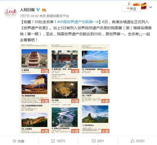 《世界遗产名录》中国居全球第一!这55个地方你去过几个?
