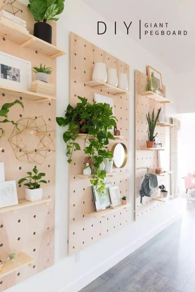 一块木板改造出一个收纳好墙面,节省空间创意有道!