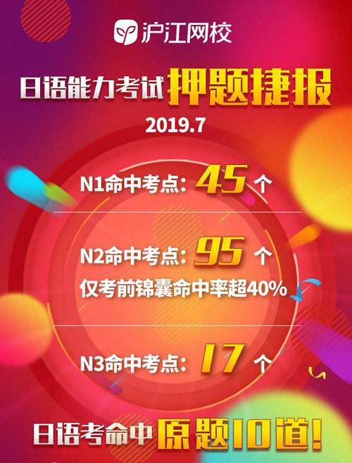 日语能力考试中沪江日语以高命中率押题成功,押中157个考点