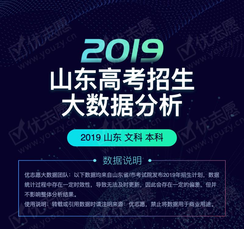 2019年山东高考——文科本科批次招生大数据分析