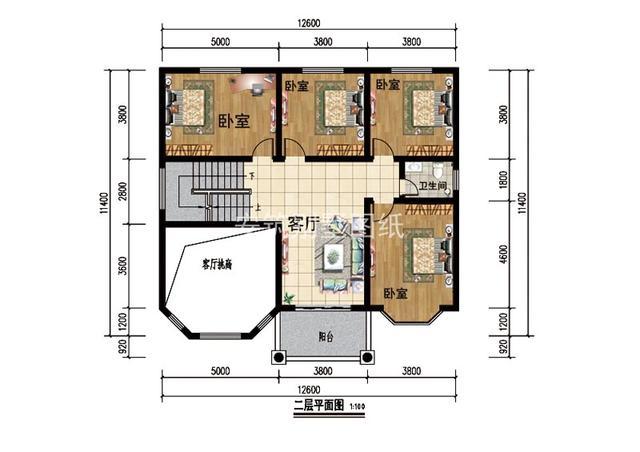普通农村二层建房设计图,简约朴实的外观,更贴近农村生活!