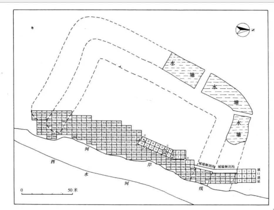 里耶古城平面图
