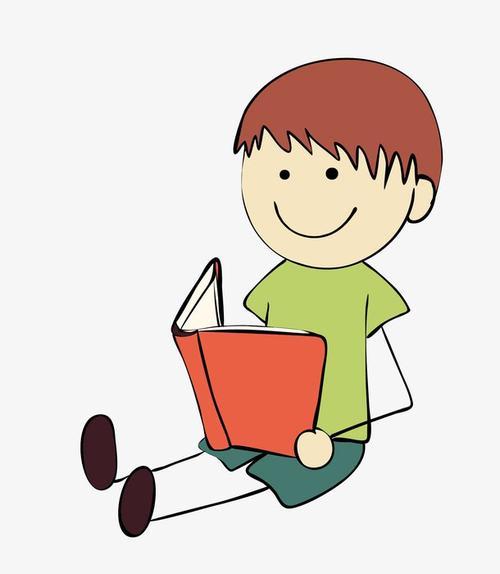 看书的男孩简笔画