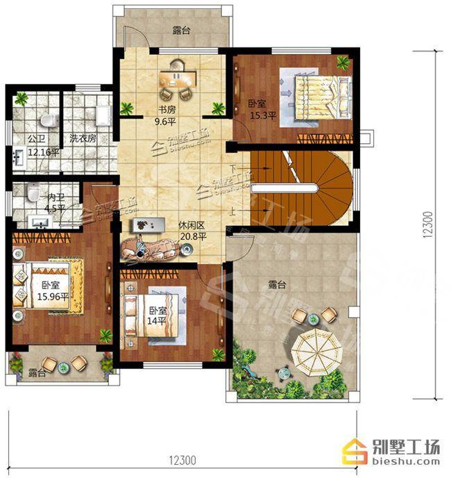 原创农村自建房150平米最佳户型图,6种方案布局设计图片