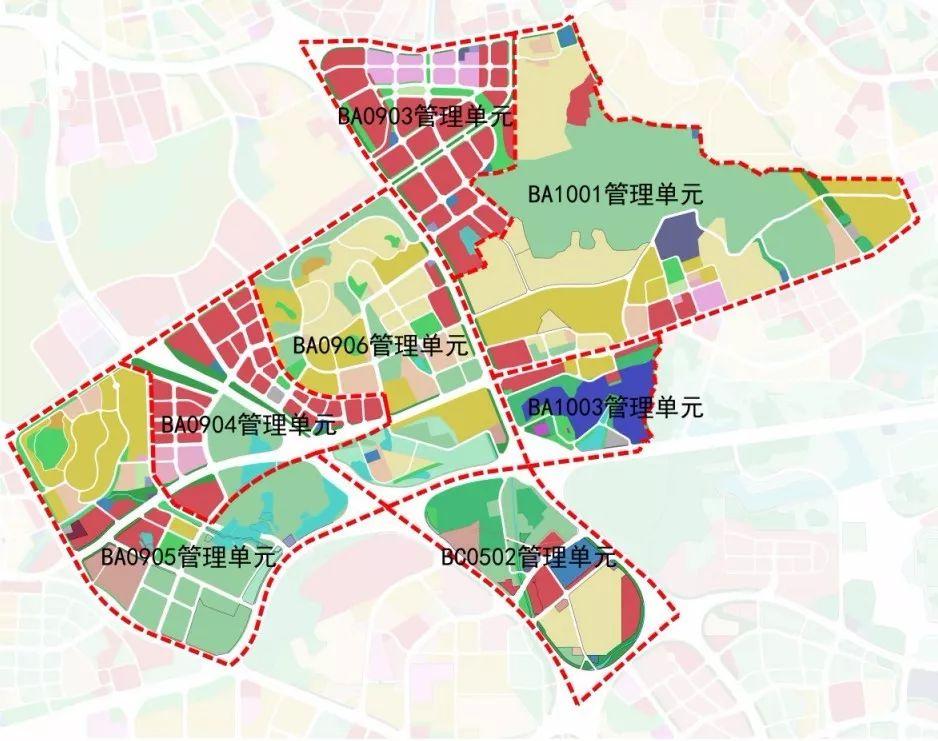 城市规划图色块