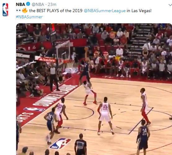 NBA官宣夏联最佳表演,鹈鹕新人暴力隔扣当选,又一个顶级蓝领?