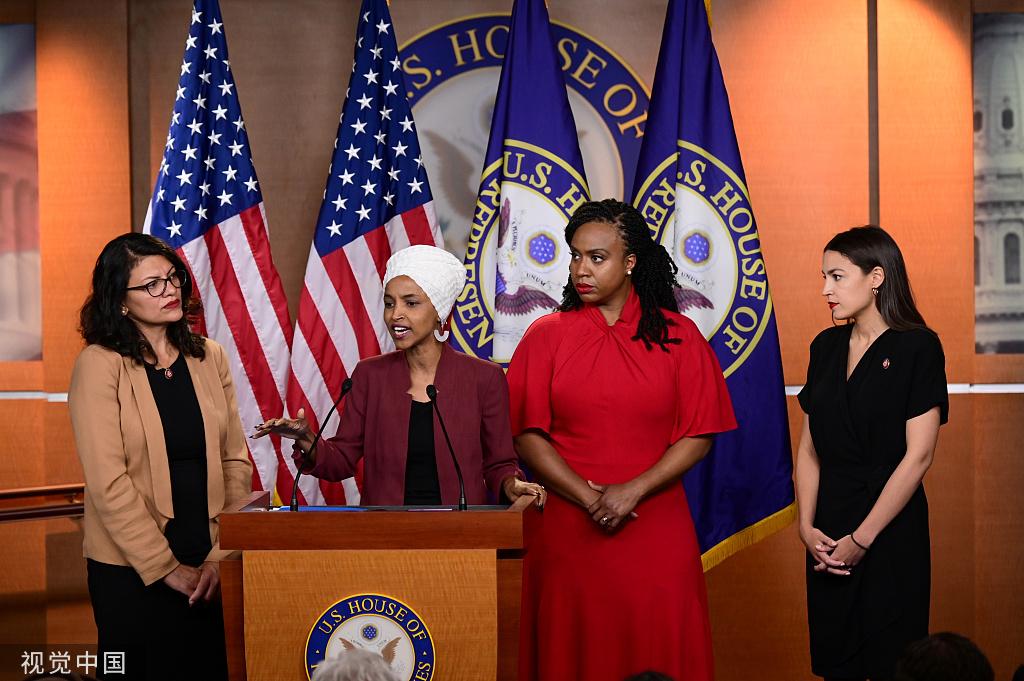 """<b>美国众议院通过决议,谴责特朗普""""种族主义言论""""</b>"""