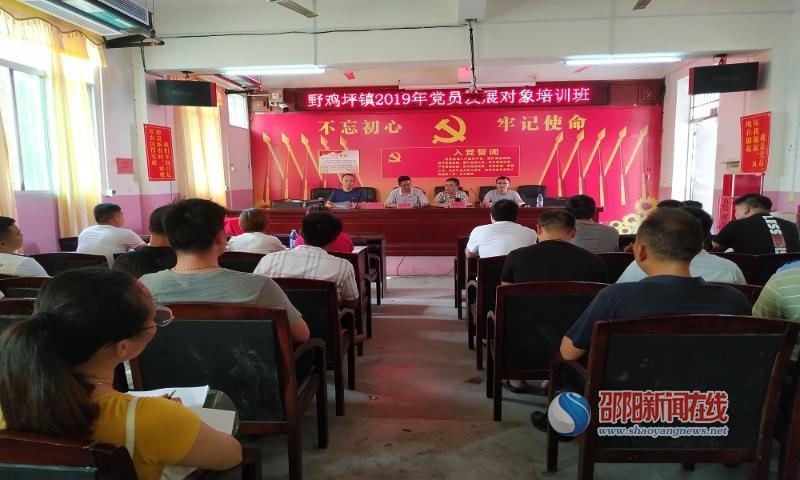 邵东县野鸡坪镇2019年党员发展对