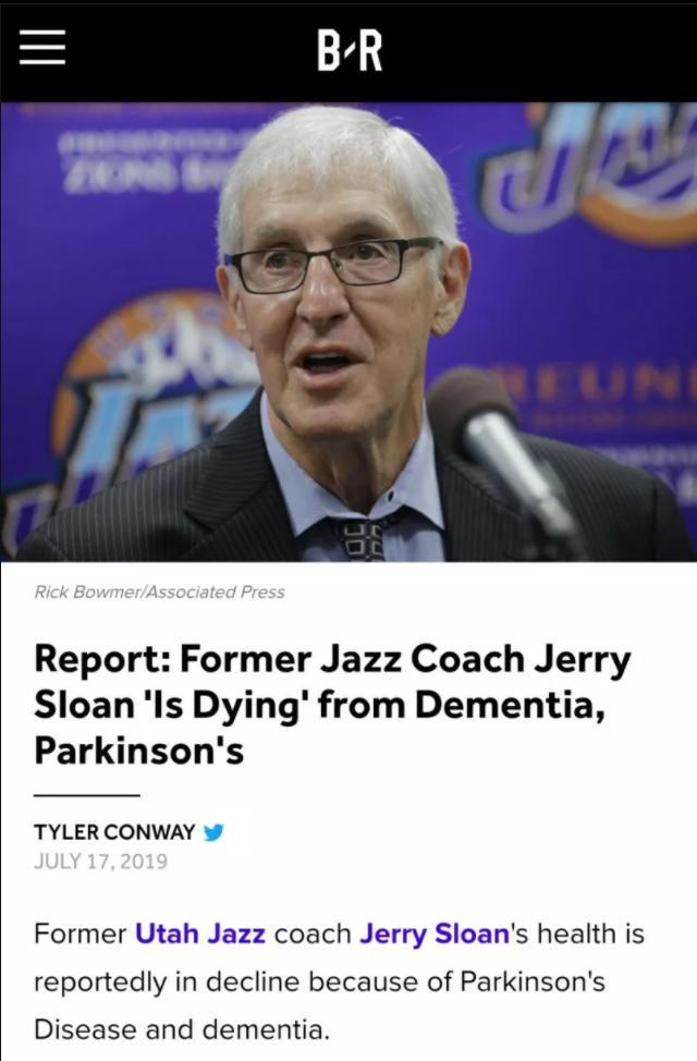 <b>为他祈祷!爵士功勋斯隆双病折磨生命垂危,他不止是一名传奇教练</b>
