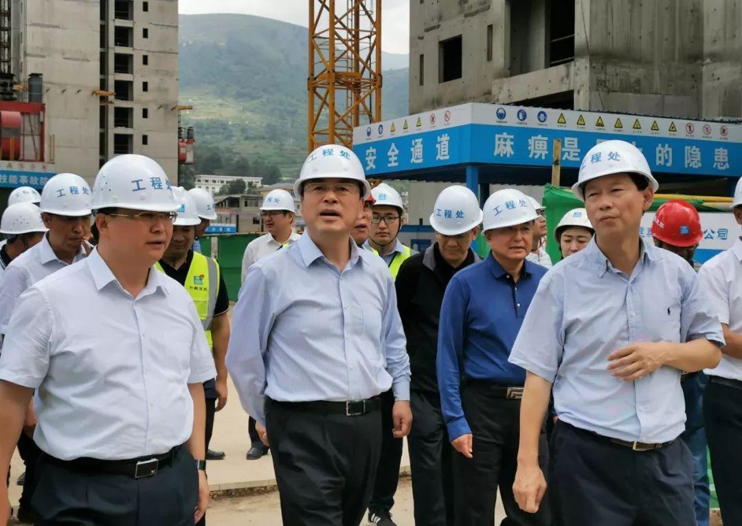 【抢鲜看】云南省委副书记、省长阮成发调研中建三局在建项目