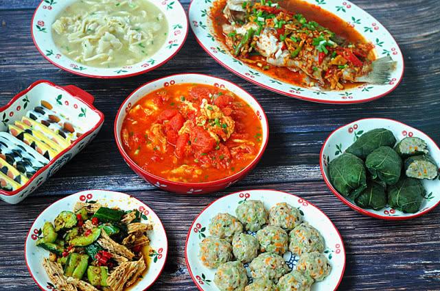 30分钟搞定6菜1汤,不动炒锅不出汗,夏天做饭,这样才轻松!