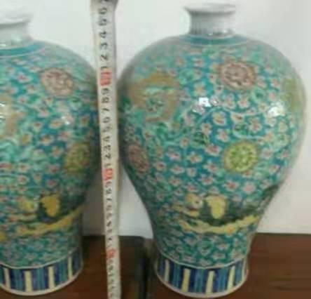 粉彩龙纹梅瓶康熙年间