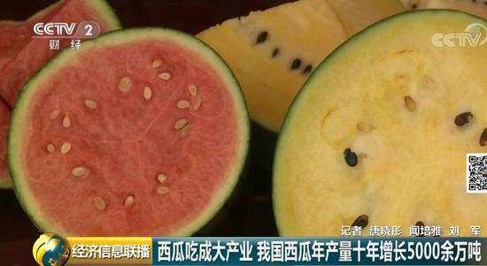 吃瓜群众力量大!中国已成为世界上最大的西瓜生产国和