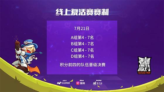 香肠派对邀请赛预选赛:XD、硬汉、CXC、Lil Ghost四队晋级总决赛